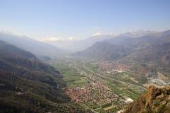 Valle Susa Fotos de archivo libres de regalías