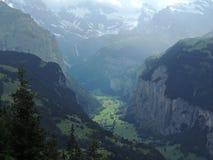 Valle svizzera Fotografia Stock