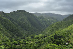 Valle tropical verde fotografía de archivo libre de regalías