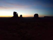 Valle Utah, surise del monumento di colori fotografia stock