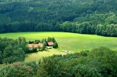 Valle verde Immagini Stock