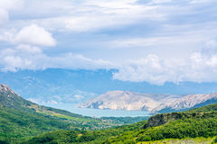 Valle verde in Croazia Fotografia Stock