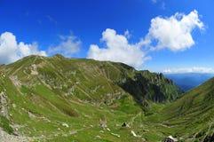 Valle verde de la montaña, Valea Cerbului - Bucegi Imagen de archivo libre de regalías