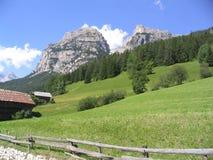 Valle verde della montagna Fotografie Stock Libere da Diritti