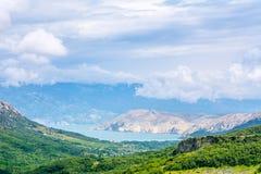 Valle verde en Croacia Foto de archivo