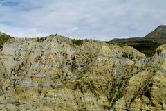 Valle verde y formaciones de roca cerca de La Paz en Bolivia Fotografía de archivo libre de regalías