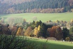 Valle vicino al Diemelsee Fotografia Stock Libera da Diritti
