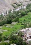 Valle vicino al monastero di Tingmosgang, Ladakh, India Fotografia Stock