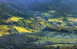 Valle volcánico Imágenes de archivo libres de regalías