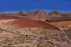 Valle vulcanica vicino al vulcano Teide Fotografie Stock