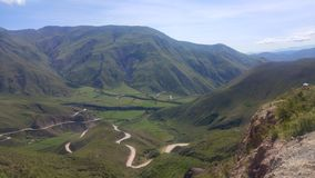 Valle y luna de Cachi Salta la Argentina fotografía de archivo libre de regalías