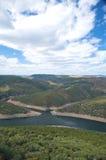 Valle y nubes Fotografía de archivo libre de regalías