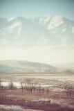 Valle y paisaje de las montañas imagen de archivo libre de regalías
