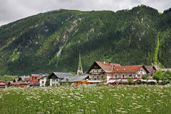 Valle Zillertal vicino a Mayrhofen tirol l'austria Fotografia Stock Libera da Diritti