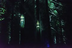 Vallea Lumina, the multimedia nighttime forest adventure in Whistler, BC