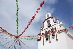 Vallede Matamoros, iglesia stockbilder