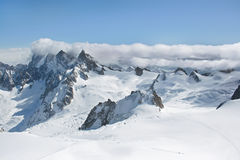 Vallee Blanche, Шамони Стоковое фото RF