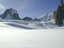 Vallee Blanche 6. The Vallee Blanche 6 Royalty Free Stock Photo