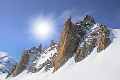 Vallee Blanche, Chamonix Photos stock
