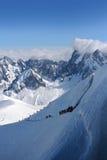 Vallee Blanche, Chamonix-Mont-Blanc Fotografie Stock Libere da Diritti