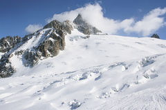 Vallee Blanche, Chamonix-Mont-Blanc Fotografia Stock Libera da Diritti