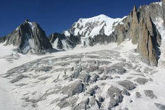 Vallee Blanche, Mont Blanc Stock Photography