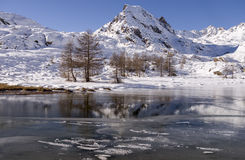 vallee des Merveilles湖  免版税库存照片