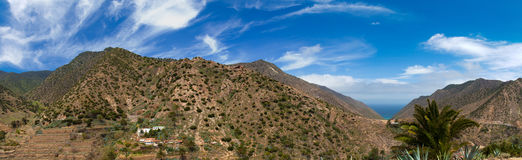 Vallehermoso, northern branch of the valley Royalty Free Stock Photos