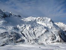 Vallei in Alpen Royalty-vrije Stock Fotografie
