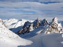 Vallei in Alpen Royalty-vrije Stock Afbeelding