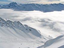 Vallei in Alpen Royalty-vrije Stock Foto