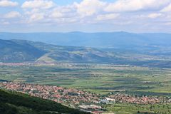 Vallei in centraal Bulgarije Royalty-vrije Stock Foto's