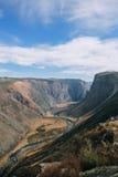 Vallei Chulyshman canion stock afbeelding