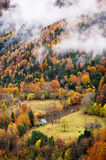 Vallei in de herfst Stock Foto's