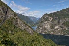 Vallei in de Noorse bergen Royalty-vrije Stock Afbeeldingen