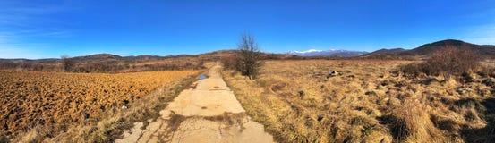 Vallei en bergen Stock Afbeelding