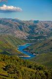 Vallei en meer in peneda-Geres, Portugal Royalty-vrije Stock Foto