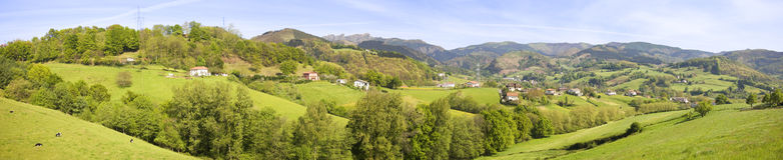 Vallei in Gipuzkoa Stock Foto's