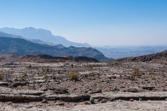 Vallei naast Jebel-Veinzerijenberg, Oman royalty-vrije stock foto's