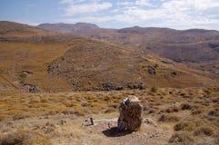 Vallei in nationaal park Lesbos Stock Afbeeldingen