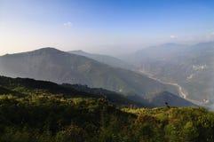 Vallei in Silerygaon, Sikkim Stock Foto's