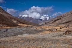 Vallei in Tadzjikistan Stock Foto's