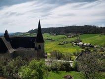 Vallei in Turenne royalty-vrije stock afbeeldingen