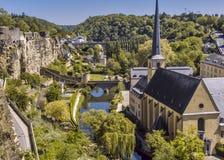 Vallei van Alzette in Luxemburg royalty-vrije stock fotografie
