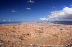 Vallei van Betancuria, centrale Fuerteventura, Canarische Eilanden. Stock Foto