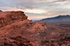 Vallei van Brand, Nevada stock afbeelding