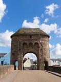 Vallei van de de toeristische attractiey van Wales het UK van de Monmouthbrug de historische stock afbeeldingen