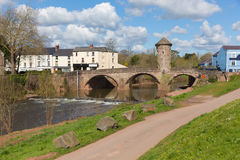Vallei van de de toeristische attractiey van Wales het UK van de Monmouthbrug de historische stock afbeelding