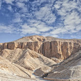 Vallei van de koningen, Egypte. Royalty-vrije Stock Foto's
