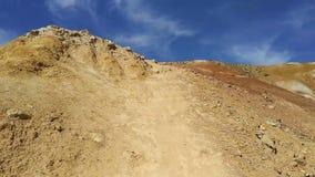 Vallei van de landschappen van Mars stock footage